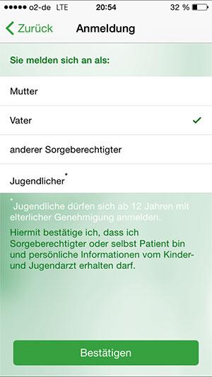 registrieren PraxisApp Kinderarzt Euler