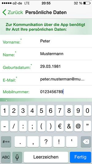 registrieren PraxisApp Kinderarzt Euler Bestätigung