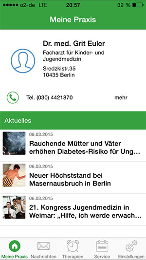 registrieren PraxisApp Kinderarzt Euler nutzen